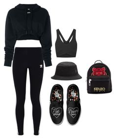 """""""Untitled #45"""" by angeline-mewengkang on Polyvore featuring Off-White, Heroine Sport, adidas Originals, Vans, Kenzo and Acne Studios"""