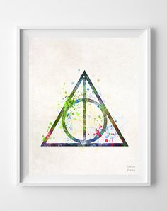 Deathly Hallows Print Harry Potter Art Print par InkistPrints