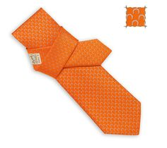 Ties Hermès Orange - Silk Twill - Timeless - Men | Hermès, Official Website