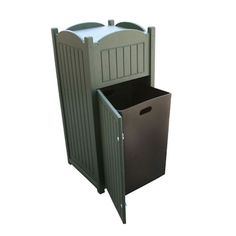 Recycled Plastic Outdoor Trash Bin   Eco Friendly Furniture | National  Business Furniture