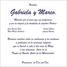 Frases De Invitaciones De Boda   TEXTO PARA INVITACIONES - Imagui