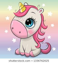 Cartoon Unicorn isolated on a Rainbow background. Cute Cartoon Unicorn isolated on a rainbow background vector illustration Unicorn Drawing, Cartoon Unicorn, Unicorn Art, Cute Unicorn, Unicorn Images, Unicorn Pictures, Cute Cartoon Girl, Cartoon Pics, Easy Cartoon