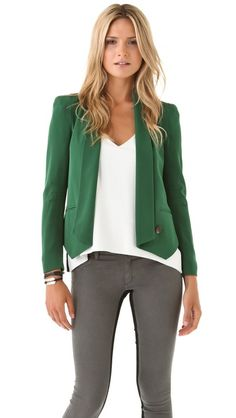 Rebecca Minkoff Becky Jacket in Forest