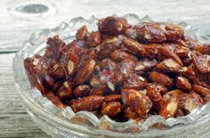 Great Christmas gift! And they're gluten-free! Pumpkin Spice Almonds | Food: Good for the Soul