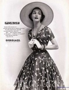 1955 blouse and skirt by Nelly de Grab. Couture Allure Vintage Fashion