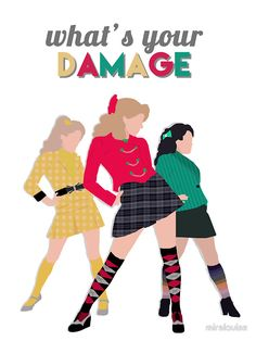 What's Your Damage Heathers the Musical Men's T-Shirt Broadway Theatre, Musical Theatre, Broadway Shows, Musicals Broadway, Heathers Wallpaper, Hamilton, Teatro Musical, Theatre Nerds, Dear Evan Hansen