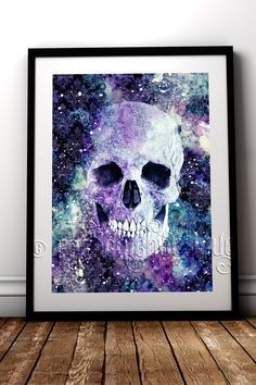 Dead Space 3.0 in the Trilogy, amazing fine art print to compliment your gothic home decor #RockChicBoutique #GothicHomeDecor #Skulls #WallArt #AlternativeHomeDecor