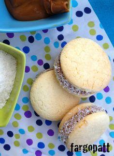 #Receta de #Alfajores de #maicena con dulce de leche.