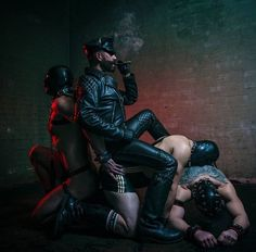 #Leathermen Daily Life #79 End of Day. His work day usually ended up with a good cigar in a nearby lounge bar where he could really relax.
