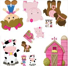 Farm Animal Birthday, Baby Shawer, Happy Party, Farm Party, Farm Theme, Best Part Of Me, Birthday Party Decorations, Farm Animals, Paper Dolls