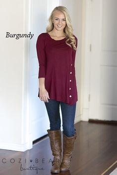 Tiffany Button Tunics   S-3XL!   Jane