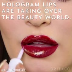 Hologram and holographic lips?! YES.