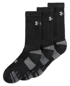 Under Armour Men's HeatGear Crew Socks 3-Pack