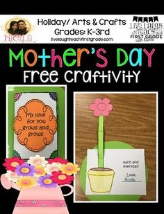 Here is a free Mother's Day Card Craftivity for your kiddos. ENJOY!! Thanks for your interest in my product! If you have any questions please email me at ncantu2305@gmail.com Visit my blog at livelaughteachfirstgrade.com for more great classroom ideas.