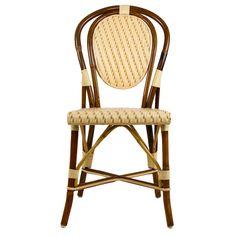 Cream Mediterranean Bistro Chair