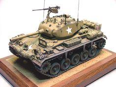 ARMY TANK Vintage Look REPLICA METAL SIGN 1945 CADILLAC M24 CHAFFEE WWII U.S