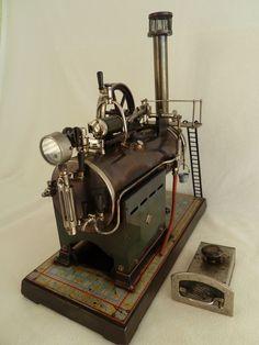 GroB Details Zu Sehr Seltene Große Ernst Plank Dampfmaschine, Steam Engine,  Steampunk, 1890
