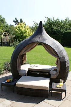 Garden Furniture Bed venice rattan hooded day bed | rattan, venice and garden furniture