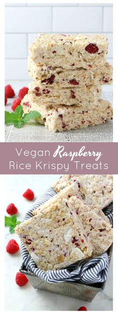 Vegan Raspberry Rice Krispy Treats - Eat. Drink. Shrink. Freeze Dried Fruit, Freeze Dried Strawberries, Rice Krispie Treats, Rice Krispies, Vegan Treats, Vegan Desserts, Good Healthy Recipes, Whole Food Recipes, Vegan Marshmallows