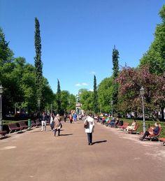 The Esplanadi Park (walking area) - Helsinki, Finland