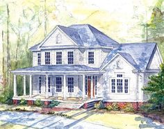 Looking for the best house plans? Check out the Highland Farm plan from Southern Living. Best House Plans, Dream House Plans, House Floor Plans, My Dream Home, Dream Homes, Farm Plans, Farmhouse Plans, Farmhouse Style, Southern Living House Plans