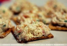 canapes - salmon and cream cheese spread for appetizzers. Nice for a party on crackers or even mini sandwiches.