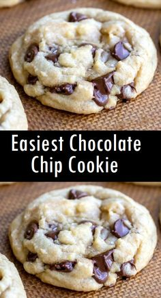 Easiest chocolate chip cookie recipe easy recipes brown butter pecan cookies are thick chewy and crunchy! Best Chocolate Chip Cookie Recipe Ever, Homemade Chocolate Chip Cookies, Easy Chocolate Chip Cookies, Easy Homemade Chocolate Chip Cookie Recipe, Easy Chocolate Recipes, Chocolate Chip Frappe, Easy Homemade Cookies, Chocolate Chocolate, Easy Cookie Recipes