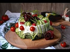 Slana torta fantazija / Sandwich Torte (CC English Subtitles) - YouTube Avocado Toast, Entrees, Watermelon, Sandwiches, Fruit, Breakfast, Recipes, English, Food