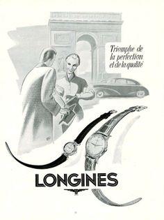 Longines wrist watch ad
