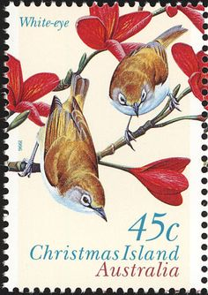 Christmas White-eye stamps - mainly images - gallery format