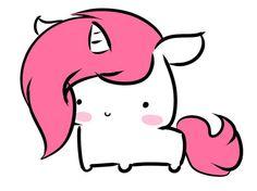A fluffy little chibi Unicorn! Team Unicorn, Unicorn Art, Cute Unicorn, Rainbow Unicorn, Kawaii Drawings, Cute Drawings, Chibi Unicorn, Unicorns And Mermaids, Illustration