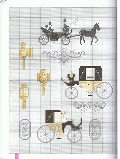 Damas Antigas ponto cruz acessórios antigos gráficos ponto cruz