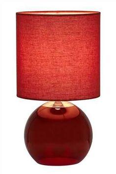 Buy Vista Ceramic Gourd Table Lamp from the Next UK online shop Red Table Lamp, Light Table, Bedside Desk Lamps, Glass Globe, New Homes, Ceramics, Lights, Gourd, Uk Online
