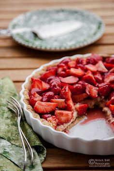 French Strawberry Creme Patiserie Tart