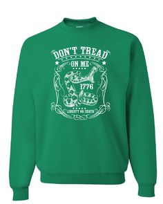 5771e300b Don't Tread on Me Sweatshirt Liberty or Death Gadsden Viper Snake Sweater