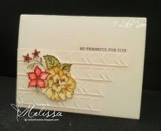 Stampin' Up! I Like You  by Melissa Davies @rubberfunatics #rubberfunatics #stampinup
