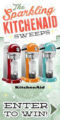 Enter The Sparkling KitchenAid Sweepstakes - http://womanfreebies.com/sweepstakes/enter-the-sparkling-kitchenaid-sweepstakes/