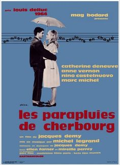 Whenever it rains, I think of The Umbrellas of Cherbourg. Always loved this movie...but it makes me super misty.