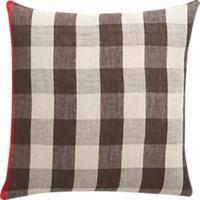 """linen check 18"""" pillow"""