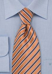 Krawatte Streifenstruktur kupfer günstig kaufen
