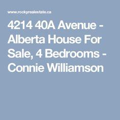 4214 40A Avenue - Alberta House For Sale, 4 Bedrooms - Connie Williamson