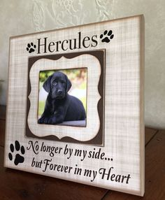 Pet Memorial Frame Customized Dog Frame by MemoryScapes on Etsy