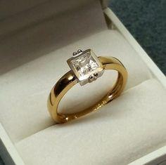 Vintage Ringe - Ring Gold 333 Kristallstein Vintage elegant GR166 - ein Designerstück von Atelier-Regina bei DaWanda
