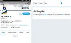 Berita Islam ! Heboh Akun Metro TV Diblokir Pihak Twitter Netizen: Efek Kebanyakan Share Berita HOAX... Bantu Share ! http://ift.tt/2w9biJQ Heboh Akun Metro TV Diblokir Pihak Twitter Netizen: Efek Kebanyakan Share Berita HOAX  Pagi ini Selasa (15/8/2017) jagad twitter dihebohkan dengan di-suspend-nya akun twitter official @Metro_TV yang memiliki jumlah followers 10 juta lebih. Ketika dibuka : https://twitter.com/Metro_TV maka hanya ada tulisan: Akun ini telah ditangguhkan. Belum ada…