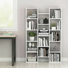 Fabulous Bookcase Decorating Ideas To Perfect Your Interior Design 10 Bookshelves In Bedroom, White Bookshelves, Cube Bookcase, Room Shelves, Barrister Bookcase, White Shelves, Corner Shelves, Bookcases, Floating Shelves