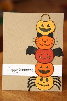 stacked pumpkin card
