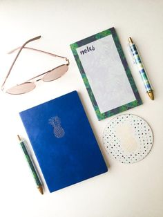 Free Stationery Equipment, Notes And Notebook On White Table Photo Pineapple Drawing, Writers Desk, Blue Books, Photography Portfolio, Free Stock Photos, Free Design, Stationery, Notebook, Notes