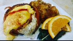 Sunday morning special at The Back Abbey: 11 AM to 3pm Eggs Benedict on Brioche. Hear it goes great with a Mimosa.