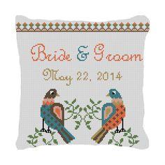 Dove Love Wedding Needlepoint Canvas