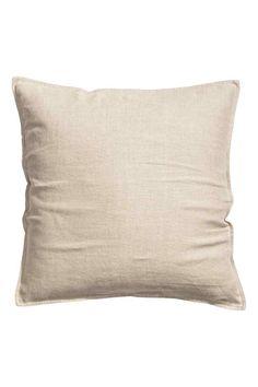 Capa de almofada em linho: QUALIDADE PREMIUM. Capa de almofada em linho lavado com fecho éclair oculto na parte de trás.